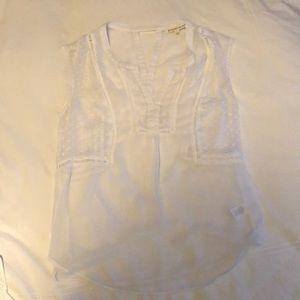 White two piece shirt.